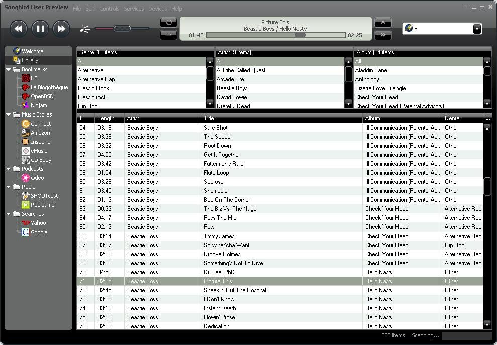 Image result for songbird! iTunes for Ubuntu