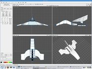 AC3D (www.ac3d.org) being used to edit a 3D space ship model