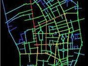 Map of Barnsbury (London) by pedestrian movement.
