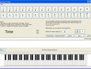 v0.0.1 showing the piano keyboard