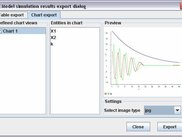 Simulation results export dialog