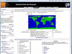 SPIDR geomagnetic data request form