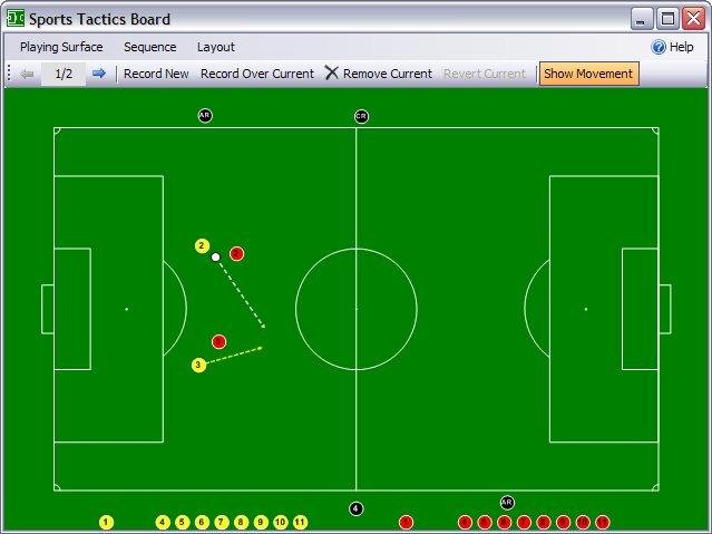Soccer Field Showing Player And Ball Movement