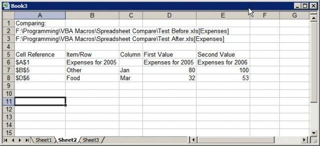 compare excel spreadsheet