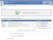 "SQLcoach Preview 1 ""Trainee completes a Task"""