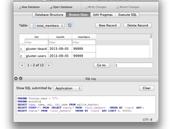 SQLite Browser screenshot