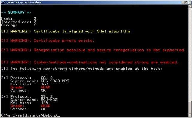 SSL Diagnos download | SourceForge net
