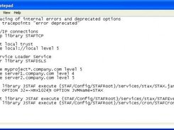 Sample STAF Configuration File used when running STAFProc