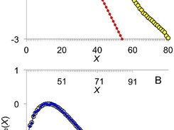 Least-squares fitting to experimental amylopectin CLD components