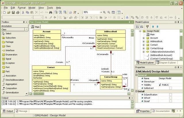 class diagram - Uml Open Source Tools