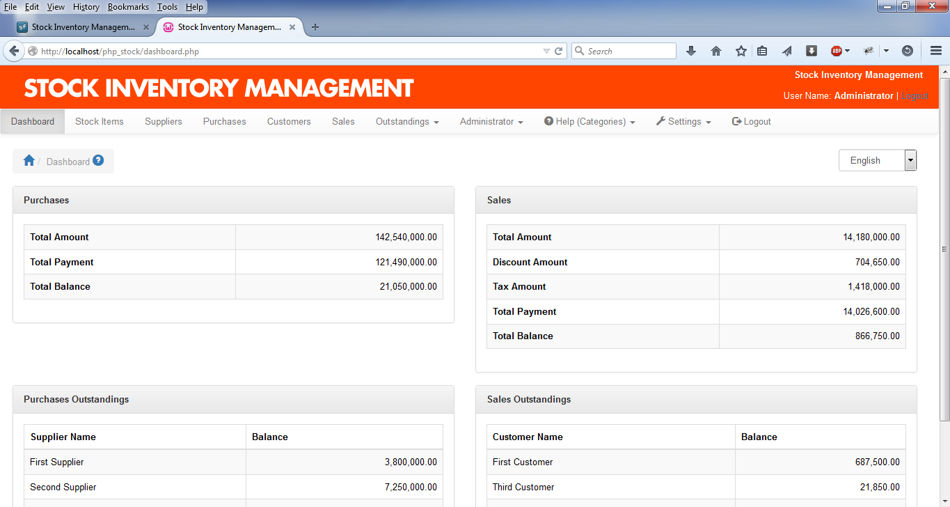 Stock Inventory Management download | SourceForge net