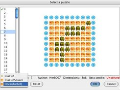 StroQ 0.2 - Puzzle Select Screen, Ocean BarbQ theme (OSX)