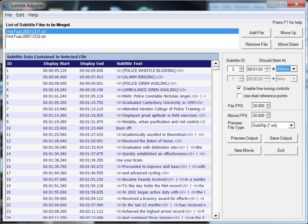 Subtitle Adjuster download | SourceForge net
