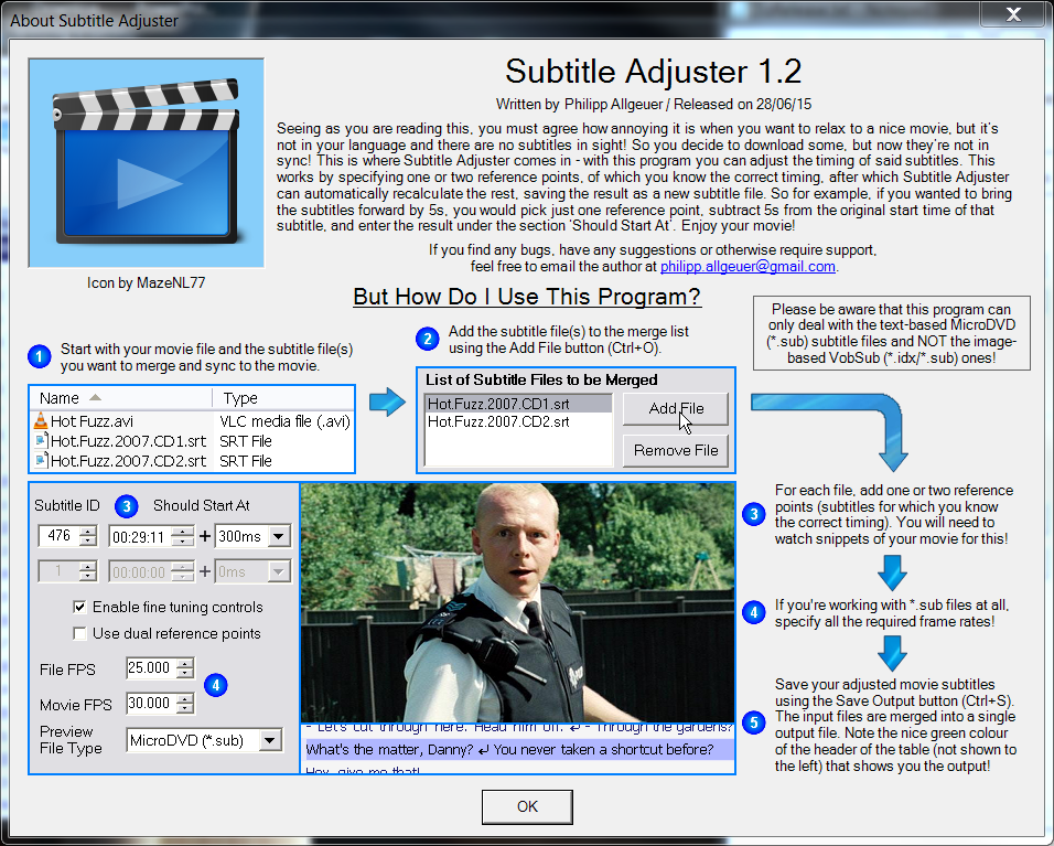 Subtitle adjuster download sourceforge the help dialog box press f1 ccuart Image collections