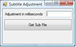 The GUI of Subtitle Adjustment