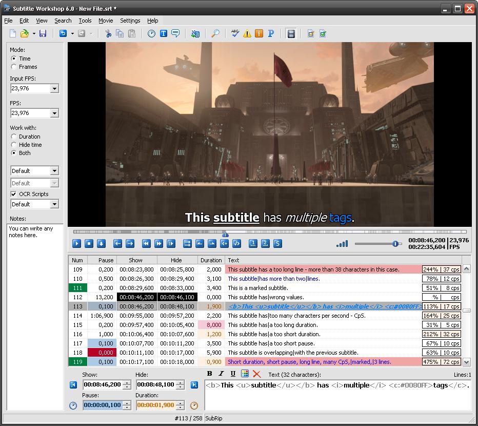 Subtitle Workshop download   SourceForge net