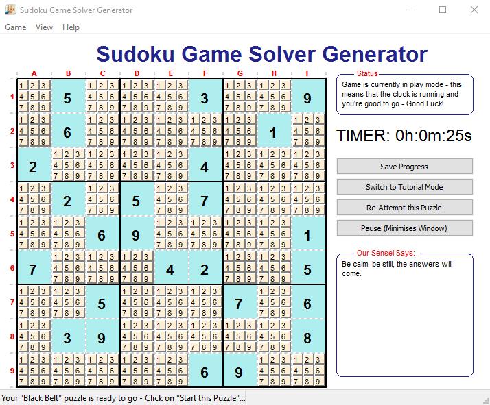 Sudoku Game Solver Generator download | SourceForge.net