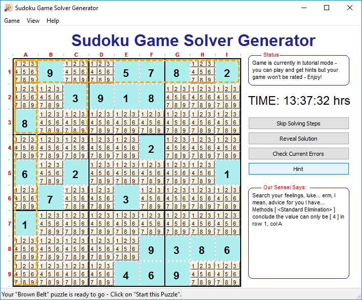Sudoku Game Solver Generator download | SourceForge net