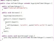 This is how Sugar4j code looks like