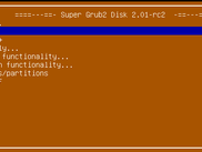 Super Grub2 Disk main menu