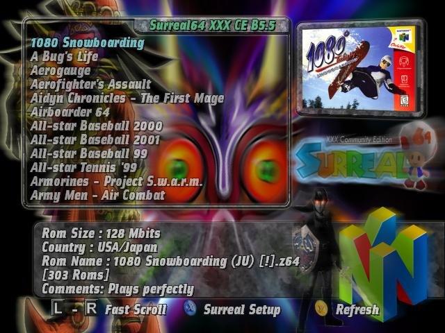 Surreal64 CE B6 1 Beta r342 + Full NTSC-U N64 Romset