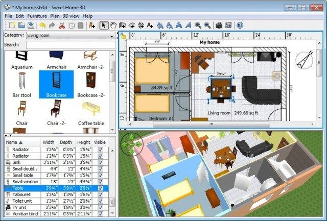 sweet home 3d in english windows 7 - Home Design