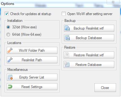 Wow Server List