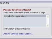 Selecting which software to update in Software Updata.