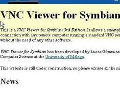 VNC Viewer for Symbian download | SourceForge net