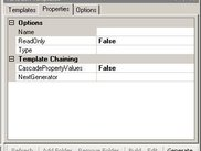Properties tab of the TaHoGen Addin ToolWindow