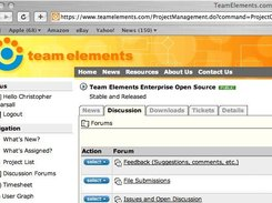 Centric Team Elements has a full featured Discussion Board