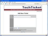Add New Ticket