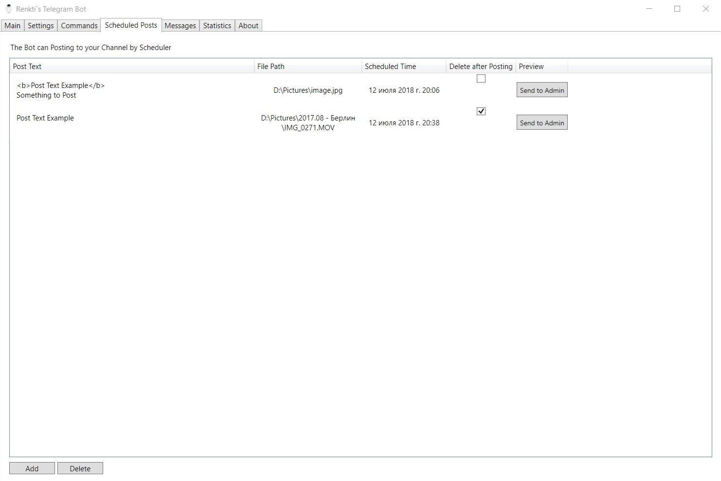 Telegram Bot for Windows download | SourceForge net