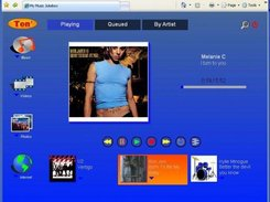 Music Now-and Next Playing viewed using a Browser
