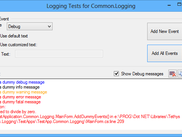 Simple RTF logging output control