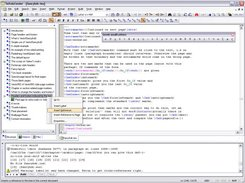 Overview: LaTeX sources with document outline on the left.