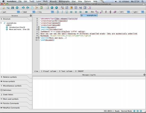 TeXstudio Portable full screenshot