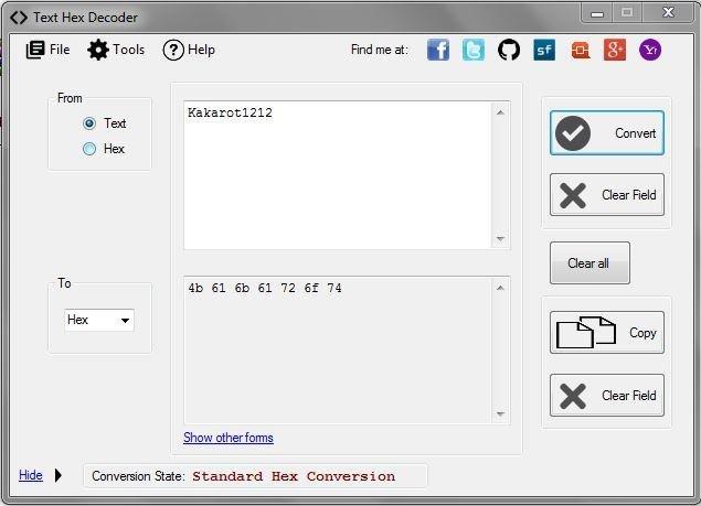 Tekst Hex Konverter V211 Hent Sourceforgenet-9520