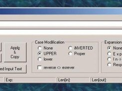 This is a screenshot of StrCase, TextWiz's predecessor.