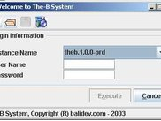 The-B System Loader Login Page