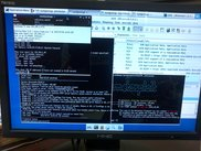 The Deck running on a BeagleBoard-xM connected to an external monitor