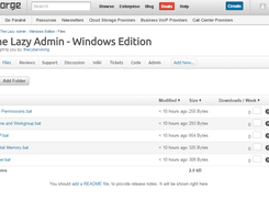 The Lazy Admin - Windows Edition download | SourceForge net
