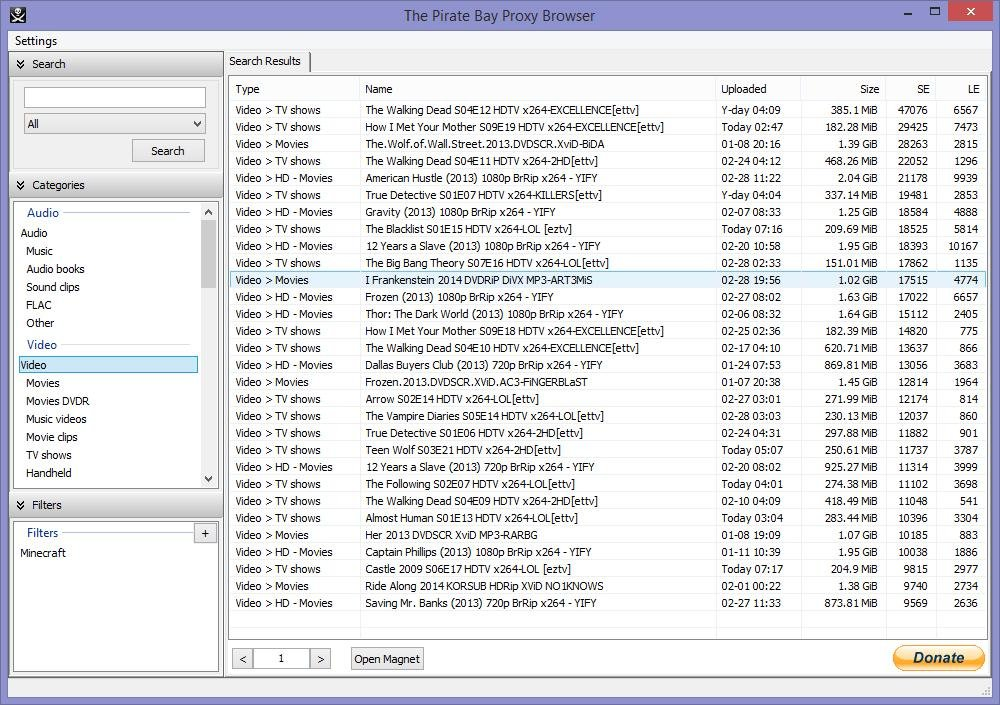 The Pirate Bay Proxy Browser download | SourceForge net