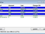 The status bar shows the summary of the 3 selected stocks.