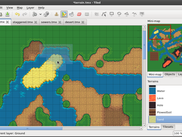 Using the terrain tool on an orthogonal map