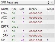 3. SFR Registers preview