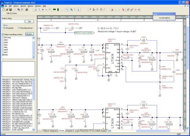 Tinycad download sourceforge main schematics page example ccuart Choice Image
