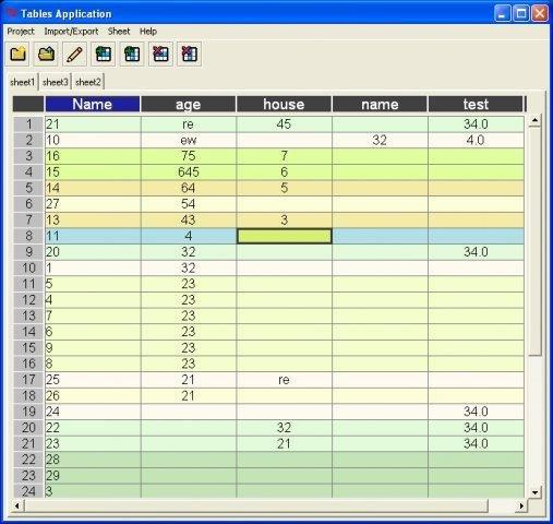 Python tkinter table example