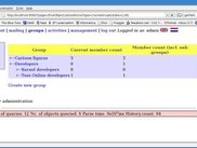 Hierarchical grouplisting for groups, committees, boards, ..
