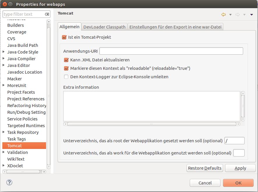 Eclipse Tomcat Plugin download | SourceForge net
